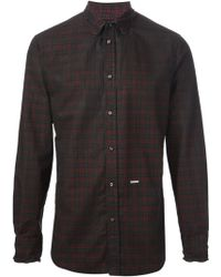 DSquared² Checked Shirt - Lyst
