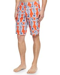 Vilebrequin Meia Seahorse-print Board Shorts - Lyst