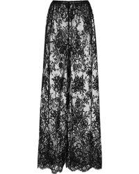 Rosamosario - Black Principessa Flirts Silk Lace Trousers - Lyst