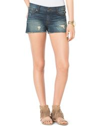 Michael Kors  Destroyed Denim Cutoff Shorts - Lyst