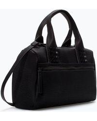Zara Studded Bowling Bag - Lyst