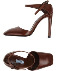 Prada Court brown - Lyst