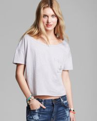 Twenty Tees Tee One Pocket Crop - Lyst