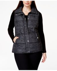 Style & Co. - Sport Plus Size Printed Vest - Lyst