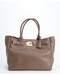 Mulberry Taupe Leather 'Bayswater' Top Handle Tote - Lyst