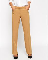 Asos Brown Flare Trouser - Lyst