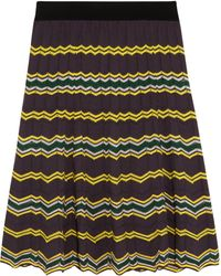 M Missoni Crochet-Knit Cotton-Blend Skirt - Lyst