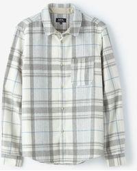 A.P.C. Gray Uk Overshirt - Lyst