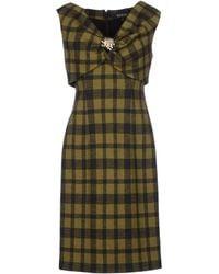 Gucci Green Short Dress - Lyst