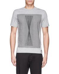 Stone Island Initial Graphic Print T-Shirt - Lyst