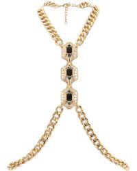 River Island Gold Tone Chain Body Harness gold - Lyst