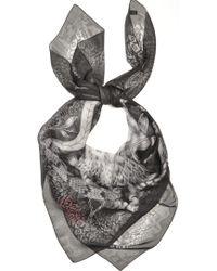 Emma J Shipley - Silk Chiffon Oversized Scarf in Black Owl Of Paradise By - Lyst