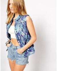Dress Gallery - Paradis Lilas Sleeveless Jacket - Lyst