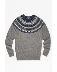 French Connection | Winter Fair Isle Novelty Jumper | Lyst
