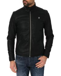 G-Star RAW Ryon Black Imitation Leather Jacket - Lyst