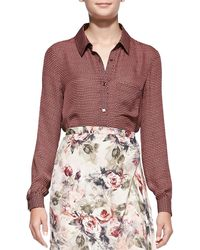 Haute Hippie To Jj with Love Printed Buttondown Blouse - Lyst