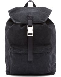 A.P.C. Charcoal Grey Canvas Clipse Rucksack - Lyst
