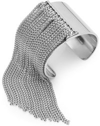 BCBGeneration - Snake Charmer Fringe Cuff Bracelet - Lyst