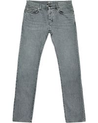 Saint Laurent Mens Straight Fit 5 Pocket Low Waisted Jeans - Lyst