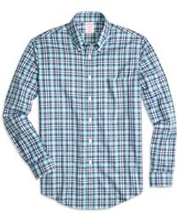 Brooks Brothers Non-Iron Regent Fit Tonal Plaid Sport Shirt - Lyst