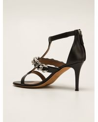Givenchy Curb Chain Sandals - Lyst