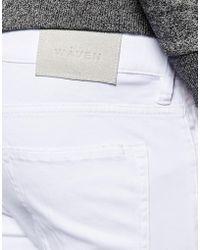 WÅVEN - Jeans Erling Spray On Super Skinny Fit Clean White Rip Repair - Lyst