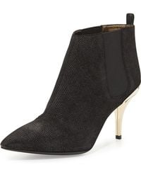 Lanvin Lizard-embossed Ankle Boot - Lyst