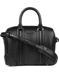 Givenchy Lucrezia Sandy Small Leather Bowling Bag Black - Lyst