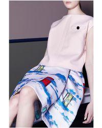 OSMAN Pleated Blush Skirt - Lyst