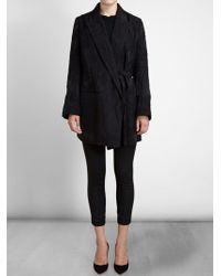Ann Demeulemeester Double Breasted Wool Coat - Lyst