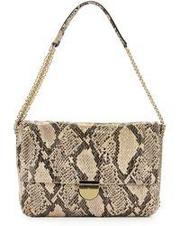 Stella McCartney Snake-Print Faux-Leather Shoulder Bag - Lyst