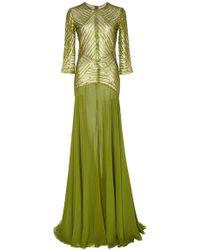 Naeem Khan - Geometric Sequin Gown - Lyst