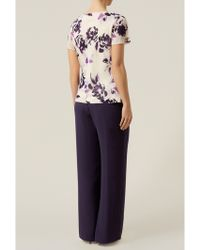Jacques Vert - Piping Detail Trousers - Lyst