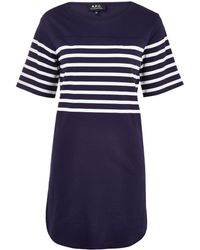 A.P.C. Stripe Baseball Dress - Lyst