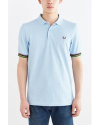Fred Perry Bradley Stripe Tipped Polo Shirt - Lyst