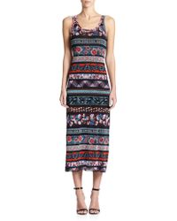 Jean Paul Gaultier Digital-Print Midi Dress - Lyst