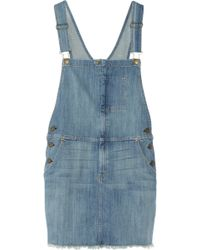 Current/Elliott The Garrison Overall Stretchdenim Dress - Lyst
