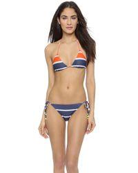 Preen Lola String Bikini Set - Navy Breton Stripe - Lyst