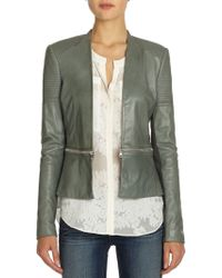 Rebecca Taylor Zip-detailed Leather Jacket - Lyst