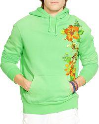 Ralph Lauren Floral Fleece Hoodie - Lyst