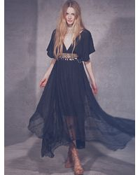 Free People Black Venus Dress - Lyst