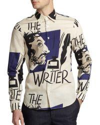 Burberry Prorsum Writer Print Sportshirt - Lyst