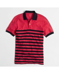 J.Crew Factory Slim Piqué Polo in Placed Stripe - Lyst