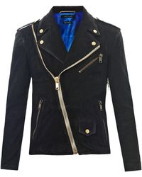 Marc Jacobs Suede Biker Jacket - Lyst
