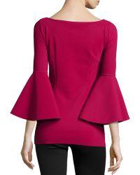 La Petite Robe Di Chiara Boni - Natty Ruffle-sleeve Jersey Tunic - Lyst