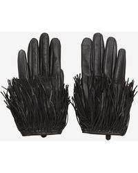Exclusive For Intermix - Fringe Gloves: Black - Lyst