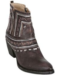 Fruit 60Mm Leather Folk Ankle Boots - Lyst