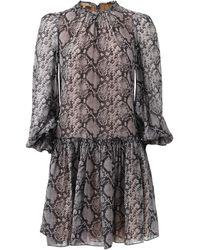 Michael Kors Drop Waist Dress - Lyst
