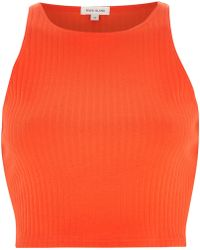 River Island Red Ribbed Racer Crop Top - Lyst
