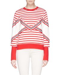 See By Chloé Colourblock Stripe Jersey Pullover - Lyst